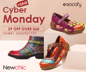 Cyber Week $9 Off Over $60 For Socofy Shoes