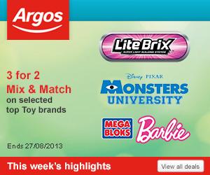 Argos 10 – 20% off