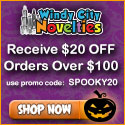 $20 Off $100+ Order plus Free Shipping on all Halloween Costumes and Decorations Windy City Noveltie