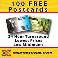 100 FREE Direct Mail Postcards - expresscopy.com