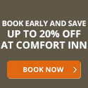 Comfort Inns - Guaranteed Best Internet Rates at locations worldwide.