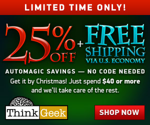 25% Off + Free Shipping