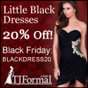 Black Friday Sale - 20% off LBDs at TJ Formal!