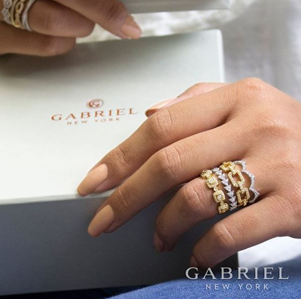 Social Media Post: Stackable Rings With Gift Box, 596 x 593