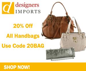 Take 20% Off All Handbags at DesignersImports.com
