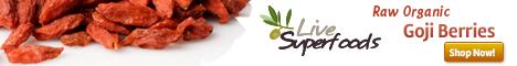 Raw Organic Goji Berries from Live Superfoods