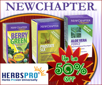 New Chapter Products - Additional 5% Off