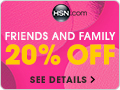 Shop HSN's Friends and Family event with 20% off your next single item purchase
