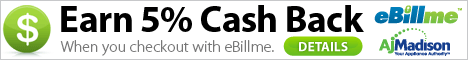 Earn 5% CashBack when you use eBillme & pay with your banks online bill pay