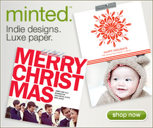 Free Shipping on Minted Holiday Photo Cards