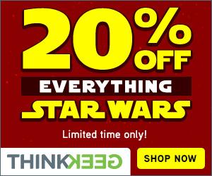 20% Off Everything Star Wars
