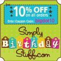 Save 10% on All Orders at SimplyBirthdayStuff.com!