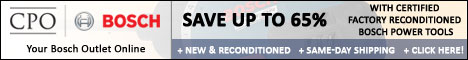 Save up to 60% w/ Reconditioned Bosch Tools @ CPO