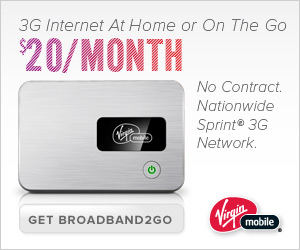 3G Internet at home or on the go.  Broadband2Go.
