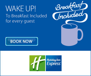 Deals from only £36 and your Breakfast is Free at Holiday Inn Express!