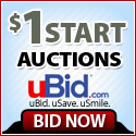 $1 Start Auctions on uBid.com