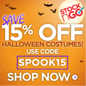 Stock n Go coupons and discounts - Stock N Go Save 15% Off on all Halloween Costumes