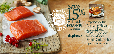 SAVE 15% OFF FRASER RIVER SOCKEYE SALMON + Get Free Shipping On Orders Over $99 At VitalChoice.com!