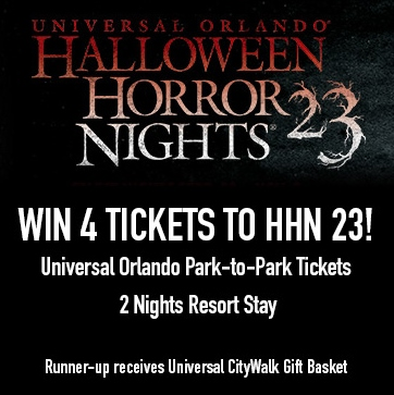Win 4 Tickets to Halloween Horror Nights!