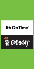 Save 10%! Get Online For Less with GoDaddy.com!