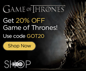 20% off Game of Thrones at the HBO Shop