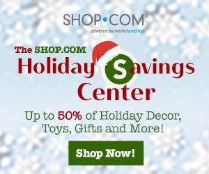 Image for (OC) Up to 50% Off Holiday decorations, gifts, toys, gift baskets and artificial trees at SHOP.COM Holiday Central + Earn Cashback! SHOP NOW! (Valid thru 12/28)
