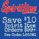 Get $5 off spirit orders $99+ at Spiritline