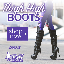 Shop AMIclubwear.com for great deals on fashionable Thigh-High Boots