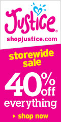 Shop Justice! 40% OFF Site Wide, w code 779!!