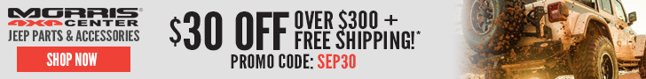 $30 Off Orders Over $300 at Morris 4x4 with code SEP30