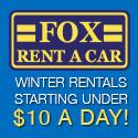 Cool Winter Rental Deals at Fox Rent A Car