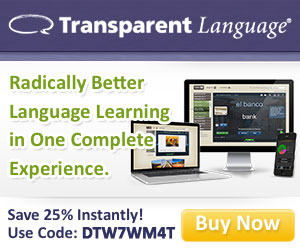 Transparent Language provides you with the most complete language-learning solution available!  Save