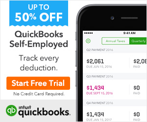 Save up to 50% off QuickBooks Self-Employed. Track every deduction! Start your free trial now!