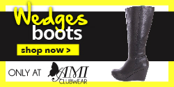 Shop AMIclubwear.com for great deals on fashionable Wedge Boots.