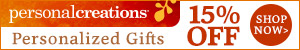 15% off Personalized Thanksgiving Gifts from Personal Creations - 300x50