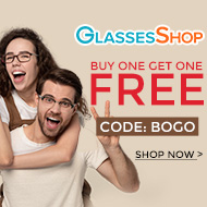 Buy One Get One FREE on all Frames and Lenses at GlassesShop.com with code GSBOGO Offer ends 11/27