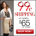 $0.99 Cent Standard Shipping On Orders $65 or More