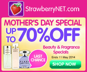 Mother's Day Special.  Up to 70% OFF Beauty and Fragrance Specials only at at StrawberryNET.com.