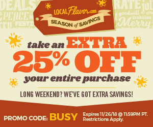 Happy Halloween! Take an extra 25% all deals at LocalFlavor.com with the code WING.