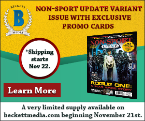 Non-Sports Update Variant Issue with exclusive promo cards