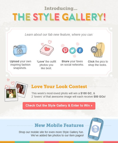 ModCloth contest -- win a $100 or $50 gift card
