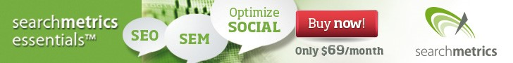 Optimize SEO, SEM and Social with Searchmetrics Essentials!