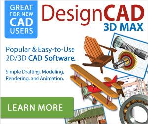 DesignCAD 3D MAX - award-winning 2D/3D CAD solution.