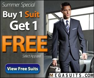 Buy 1 Suit, Get 1 FREE! MegaSuits.com