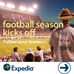 Find your spirit with Expedia! Explore our top college football towns for great deals!