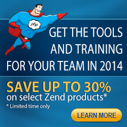 End of Year Promotion! Save up to 30% on select Zend products