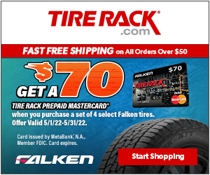 Get $70 by Mail on a Firestone Visa Prepaid Card