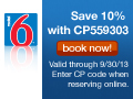 Customers Save 10% at Motel 6