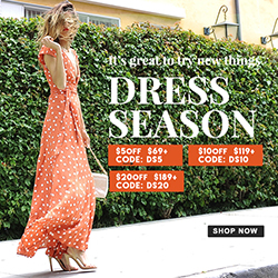 Trendy Dresses BIG STATEMENT!Refresh Looks,$20 OFF! Seize Codes: DS5 DS10 DS20 (69-5,119-10,189-20)