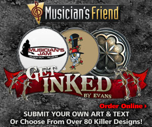 Customize Your Drum Heads at MusiciansFriend.com!